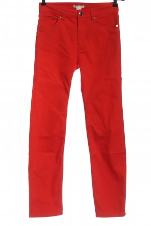 H&M Röhrenjeans rot Casual-Look