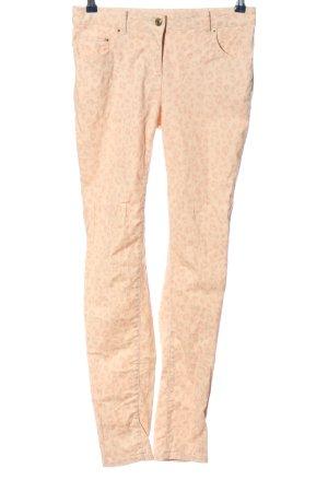 H&M Röhrenjeans creme-pink Allover-Druck Casual-Look