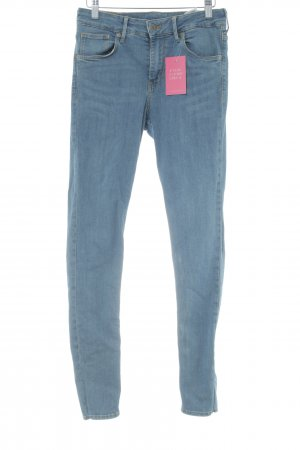 H&M Tube jeans blauw gestippeld casual uitstraling