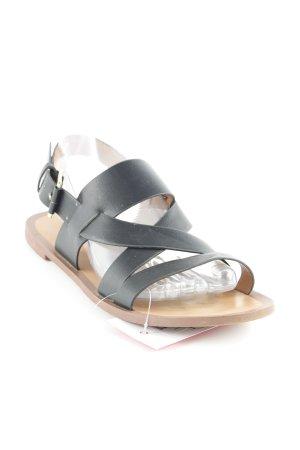 H&M Römer-Sandalen schwarz Casual-Look