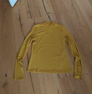 H&M Camisa de cuello de tortuga amarillo