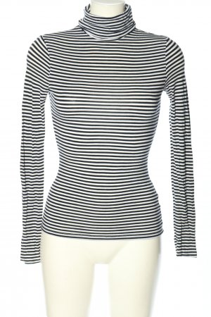 H&M Rollkragenpullover schwarz-weiß Allover-Druck Casual-Look
