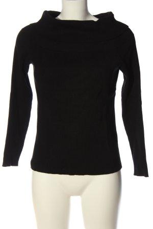 H&M Sweter z golfem czarny W stylu casual