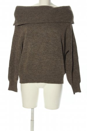 H&M Rollkragenpullover braun meliert Casual-Look