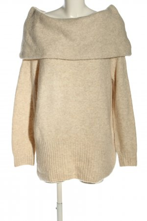 H&M Strickpullover creme meliert Casual-Look