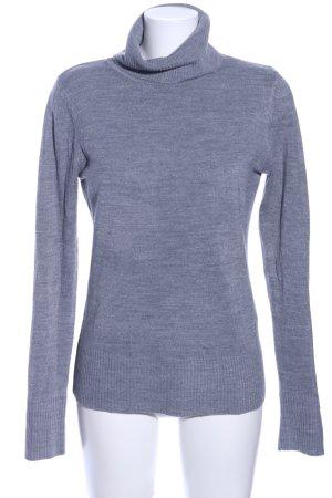 H&M Rollkragenpullover blau Casual-Look