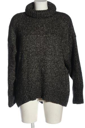 H&M Rollkragenpullover schwarz-weiß Casual-Look