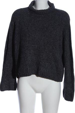 H&M Jersey de cuello alto gris claro moteado look casual
