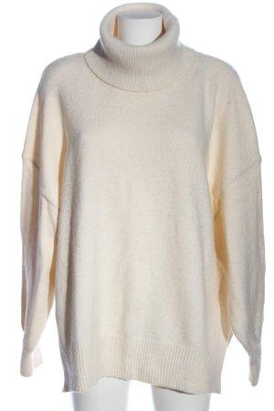 H&M Pull-over à col roulé blanc cassé style décontracté