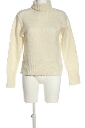 H&M Jersey de cuello alto crema look casual