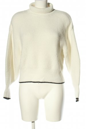 H&M Turtleneck Sweater natural white-black casual look
