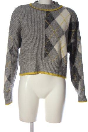 H&M Rollkragenpullover grafisches Muster Casual-Look