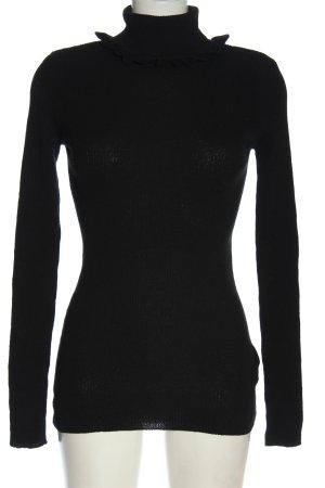 H&M Rollkragenpullover schwarz Casual-Look