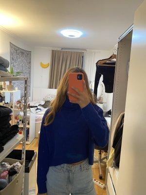 H&M Maglione dolcevita blu scuro