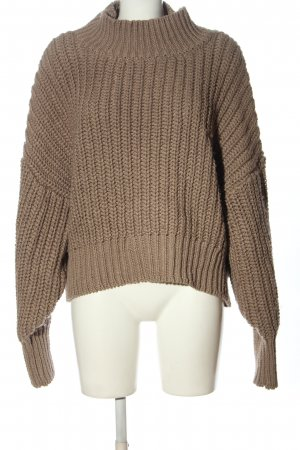 H&M Turtleneck Sweater brown cable stitch casual look