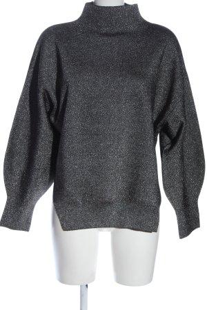H&M Rollkragenpullover silberfarben Casual-Look