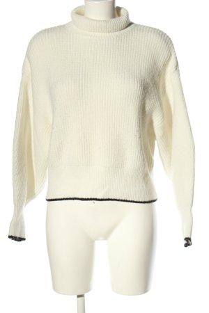 H&M Pull-over à col roulé blanc cassé-noir style décontracté