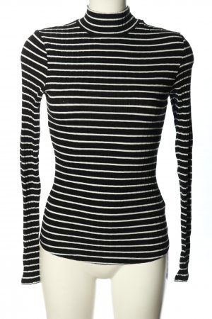 H&M Colshirt zwart-wit gestreept patroon casual uitstraling
