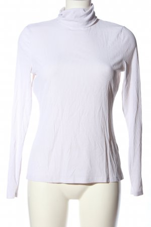 H&M Turtleneck Shirt white cable stitch business style