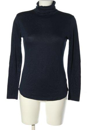 H&M Rollkragenshirt blau meliert Casual-Look