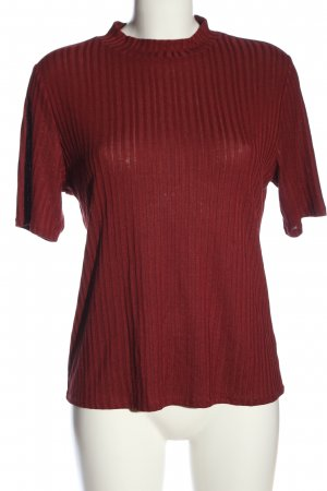 H&M Top à col roulé rouge style décontracté