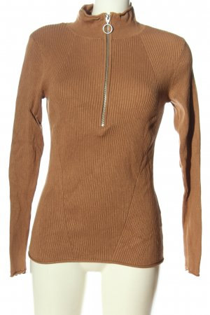 H&M Turtleneck Shirt brown-silver-colored casual look