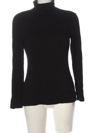 H&M Camisa de cuello de tortuga negro look casual