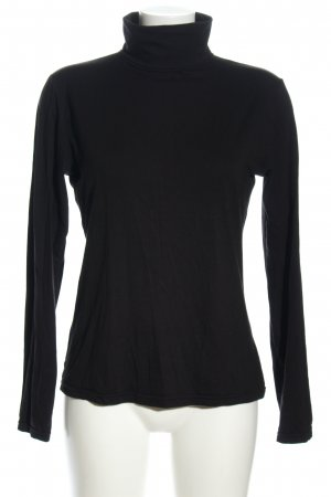 H&M Top à col roulé noir style simple