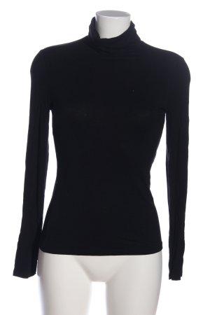 H&M Maglia a collo alto nero stile casual