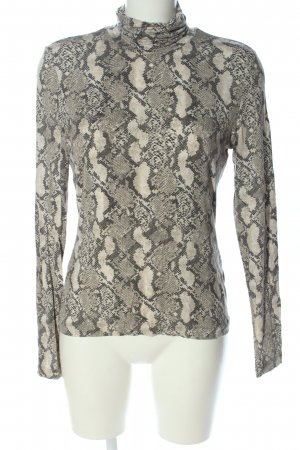 H&M Turtleneck Shirt animal pattern elegant