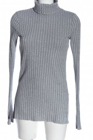 H&M Turtleneck Shirt light grey flecked casual look