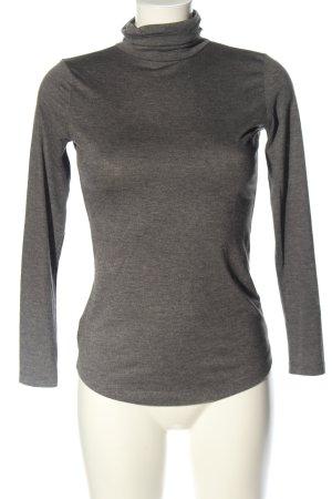 H&M Camisa de cuello de tortuga gris claro moteado look casual