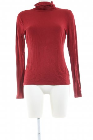 H&M Camisa de cuello de tortuga rojo look casual