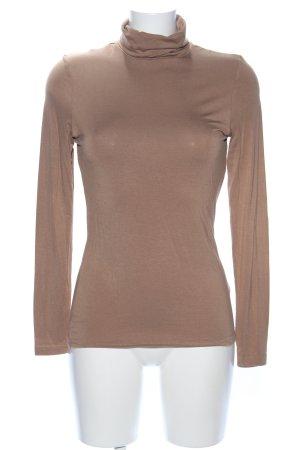 H&M Colshirt bruin gestippeld zakelijke stijl