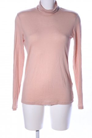 H&M Camisa de cuello de tortuga rosa look casual