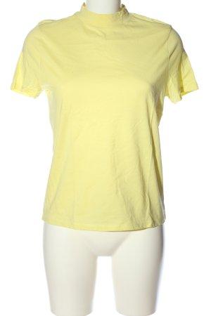 H&M Camisa de cuello de tortuga amarillo pálido look casual