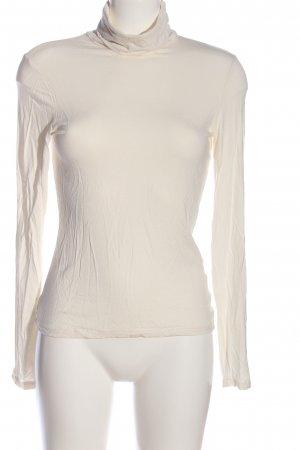 H&M Maglia a collo alto crema stile casual