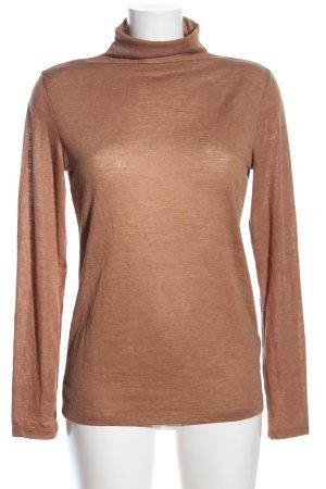 H&M Camisa de cuello de tortuga color bronce moteado look casual