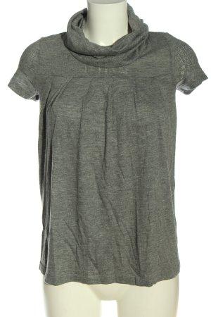 H&M Koszulka z golfem jasnoszary Melanżowy Elegancki