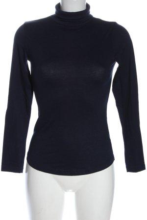 H&M Turtleneck Shirt blue casual look