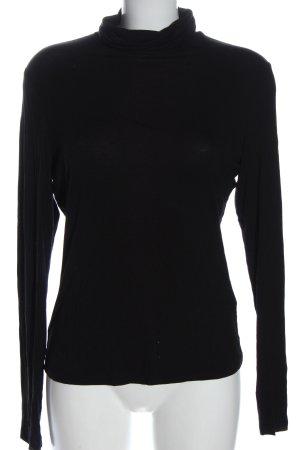 H&M Koszulka z golfem czarny W stylu casual