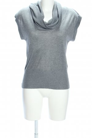 H&M Colshirt lichtgrijs gestippeld casual uitstraling