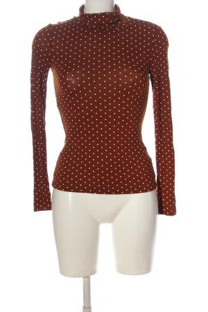 H&M Camisa de cuello de tortuga rojo-blanco look casual