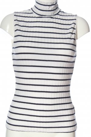 H&M Neckholder Top white-black striped pattern casual look