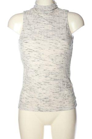 H&M Neckholder Top white-black flecked casual look