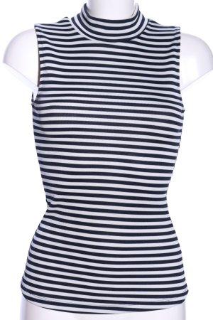 H&M Rollkragentop blau-weiß Streifenmuster Casual-Look