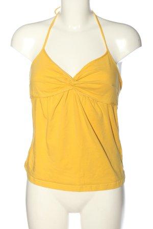 H&M Haut dos-nu jaune primevère style décontracté