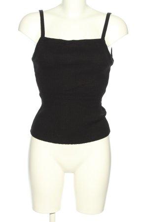 H&M Rugloze top zwart gestreept patroon casual uitstraling