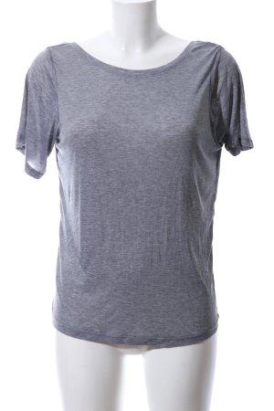 H&M Top z odkrytymi plecami jasnoszary Melanżowy W stylu casual