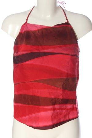 H&M Blusa sin espalda rosa-rojo look casual